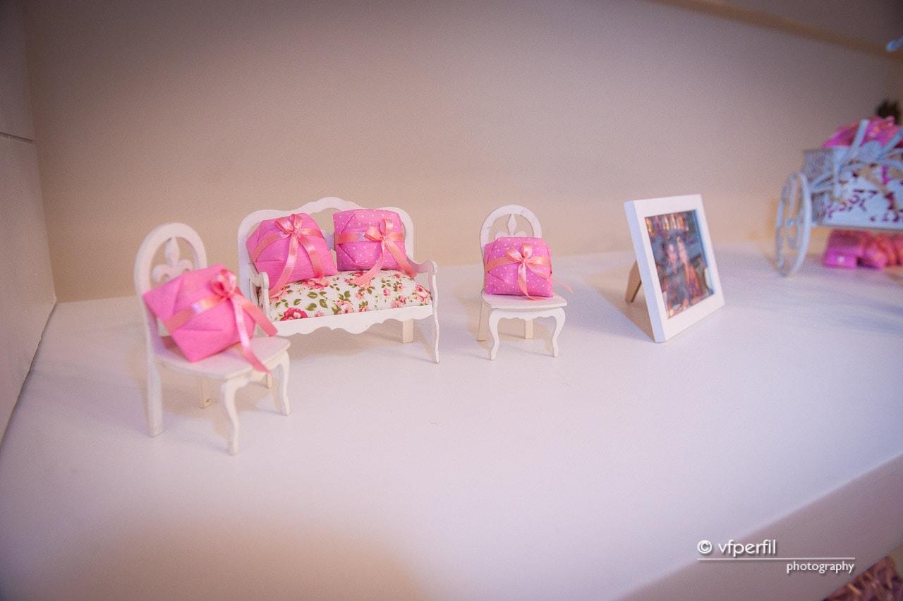 decoração rosa e azul casamento