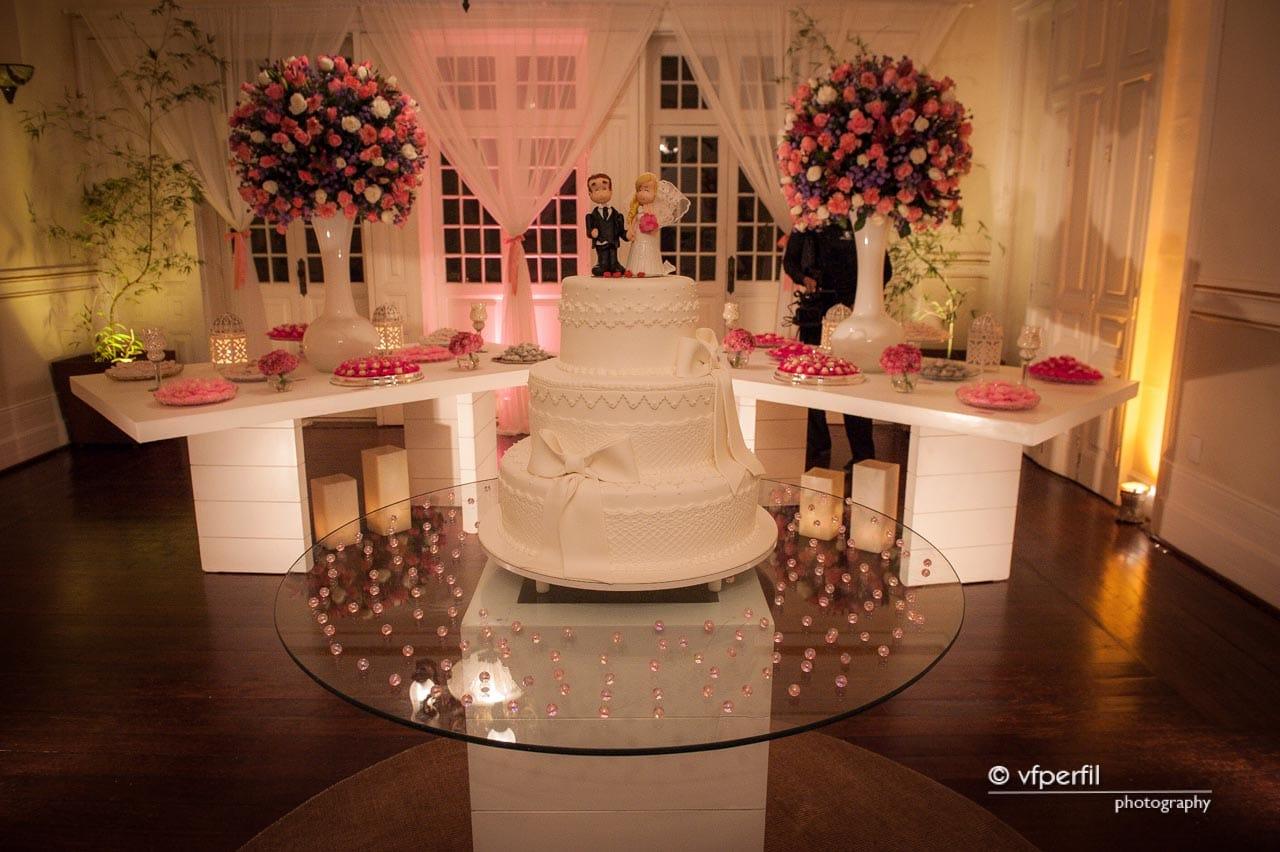 decoração rosa e azul casamento na Espaço 1 Rio