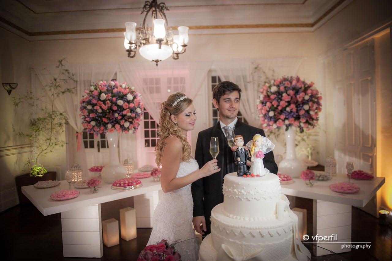 decoração rosa e azul casamento na Espaço 1