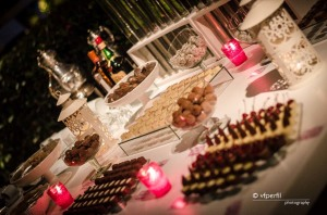 decoração casamento mesa de café