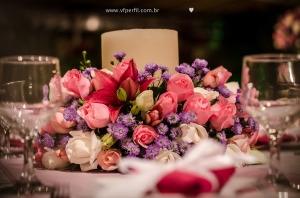 arranjo de flores decoração rosa e azul casamento na Espaço 1 Rio