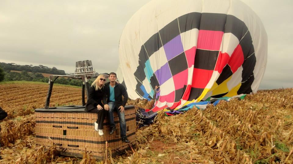 namoro à distância foto de balão