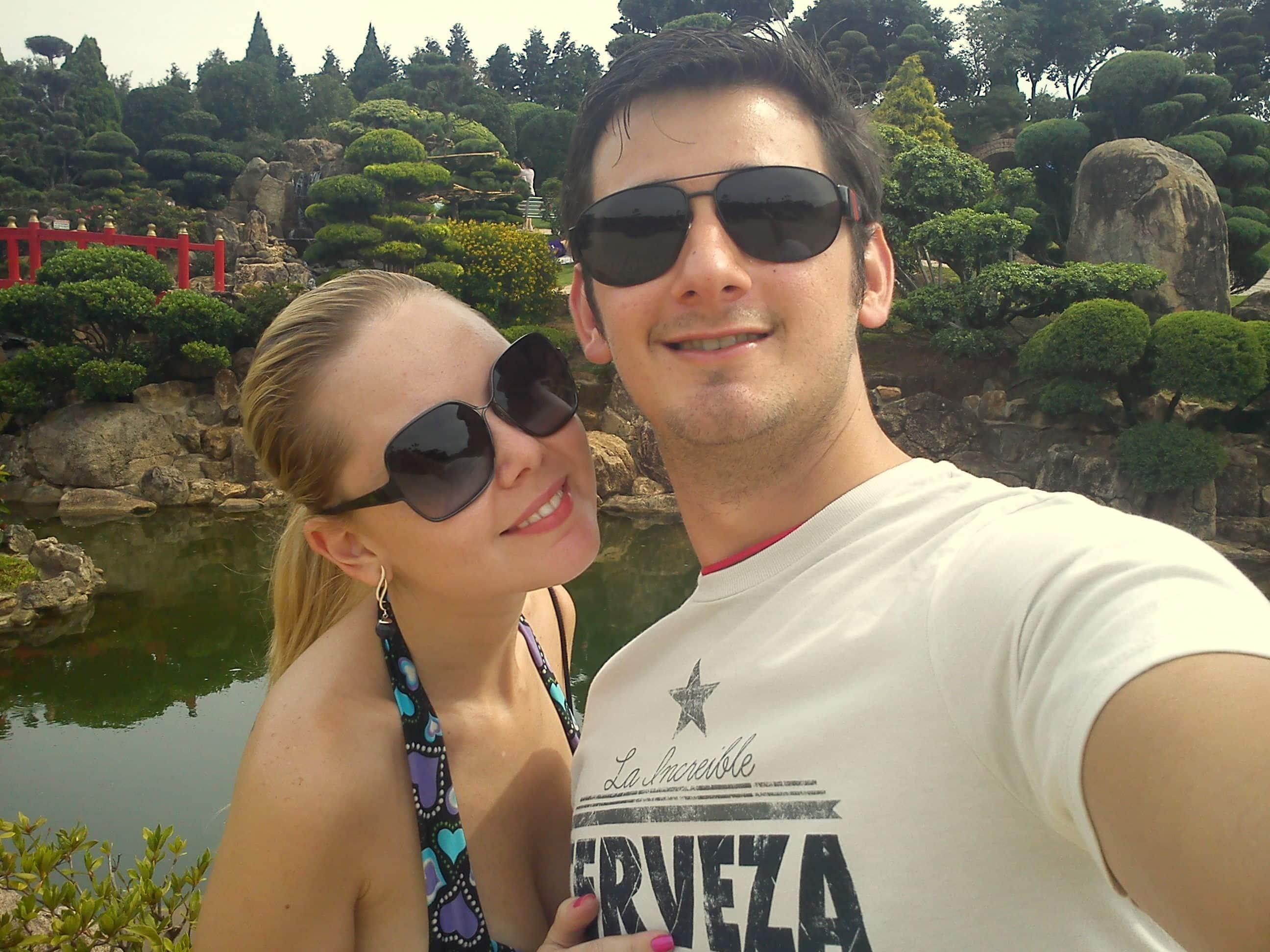 namoro à distância Jardim Japonês Pousada Maeda Itu