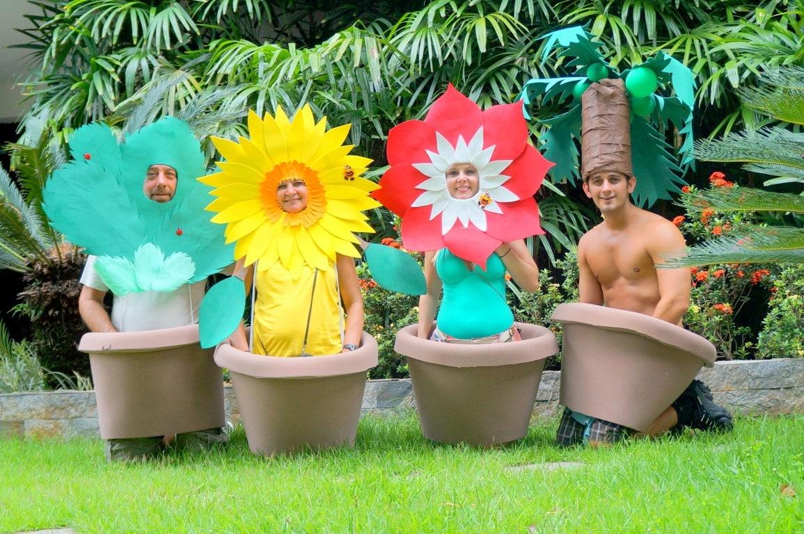 fantasias de Carnaval flores