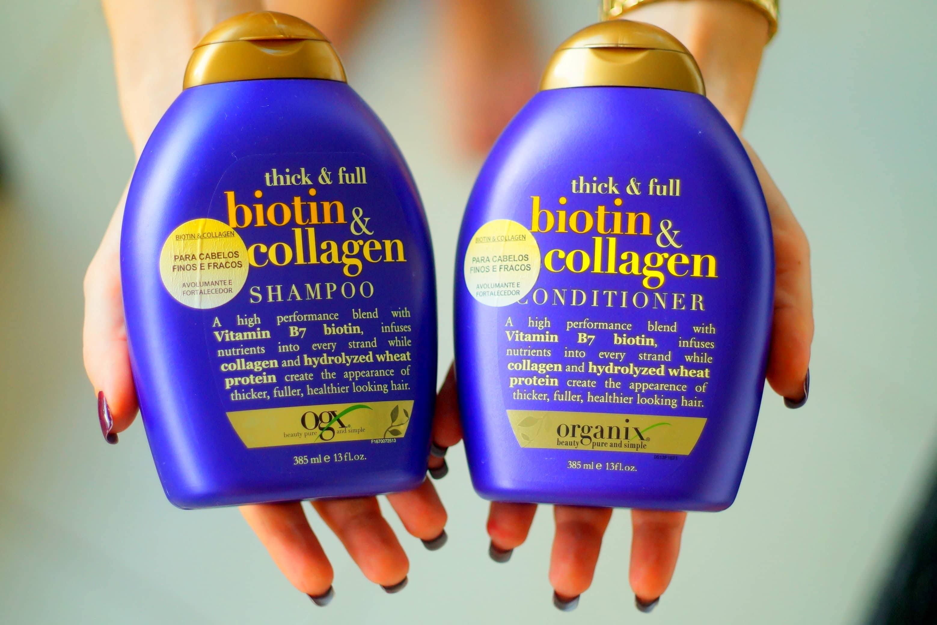 shampoo e condicionador Organix Thick & Full Biotin & Collagen
