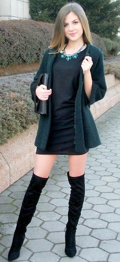 bota over the knee com vestido dicas de como usar over the knee boots