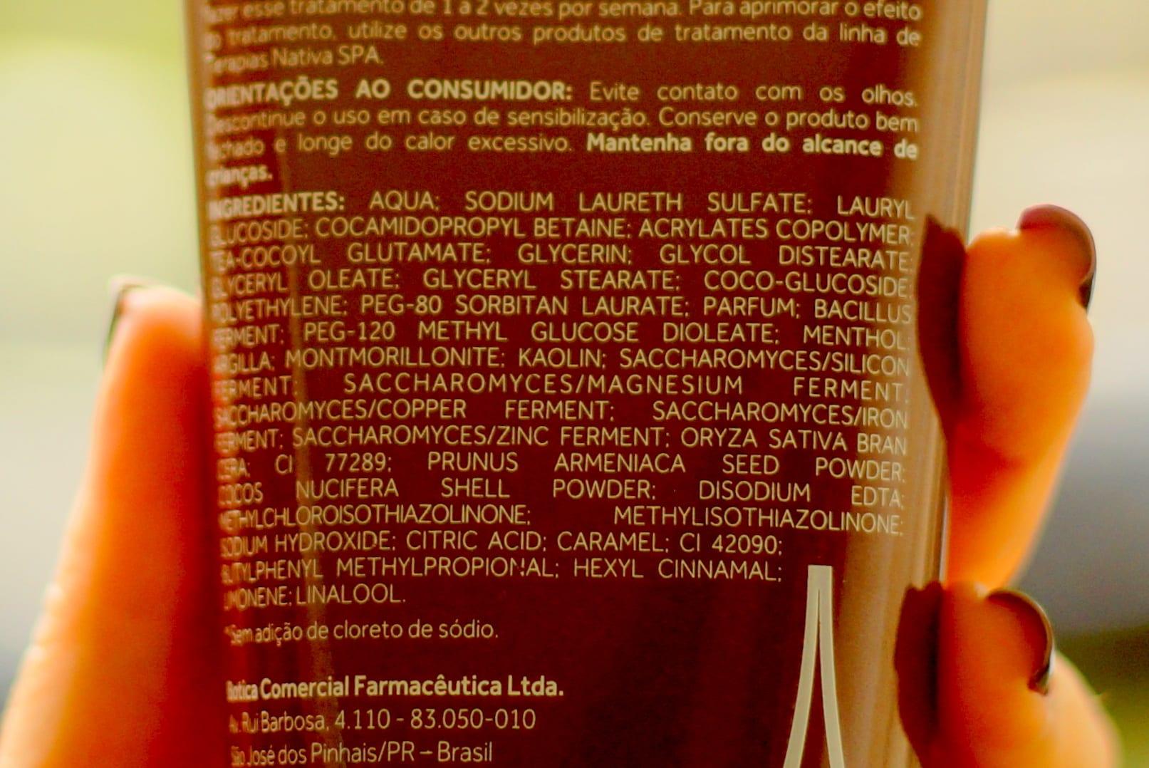 Pré-shampoo Purificante Argiloterapia Nativa Spa