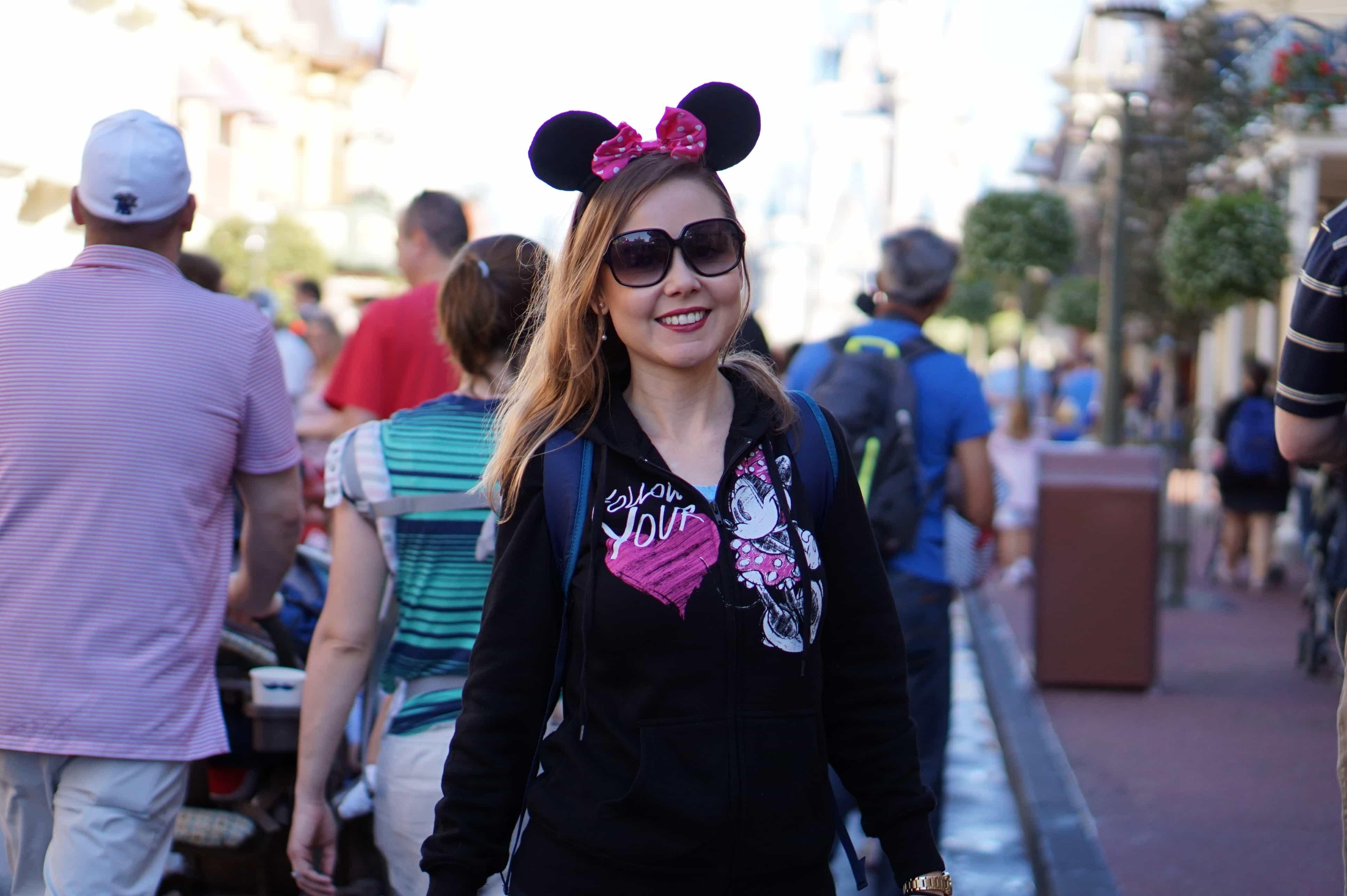 dicas para quem vai viajar para Orlando Magic Kingdom orelhas de Minnie
